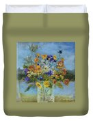 Wildflowers On The Lake Duvet Cover