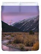 Wildhorse Creek Autumn Sunrise Duvet Cover