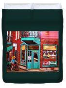 Wilenskys Cafe On Fairmount In Montreal Duvet Cover