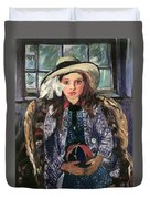 Wilhelmine With Ball 1915 Duvet Cover