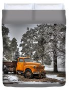Will Plow For Snow Duvet Cover