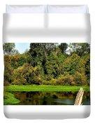 Willamette River Reflections 3813 Duvet Cover