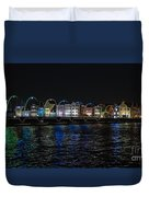 Willemstad Curacao At Night Duvet Cover
