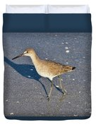 Willet And Shadow Duvet Cover