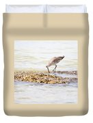 Willet Set 2 Of 4 By Darrell Hutto Duvet Cover