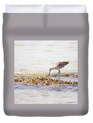 Willet Set 4 Of 4 By Darrell Hutto Duvet Cover