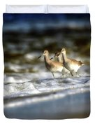 Willets In The Waves Duvet Cover