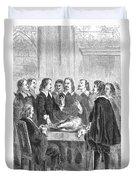 William Harvey Explaining Blood Duvet Cover