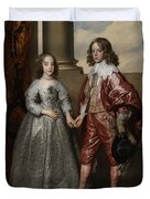 William II, Prince Of Orange, And His Bride, Mary Stuart Duvet Cover