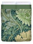 William Morris Wallpaper Sample With Chrysanthemum Duvet Cover