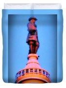 William Penn - City Hall In Philadelphia Duvet Cover by Bill Cannon