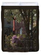 William Street In Bloom Duvet Cover