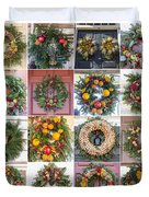 Williamsburg Christmas Collage Squared 3 Duvet Cover
