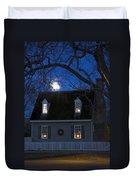 Williamsburg House In Moonlight Duvet Cover