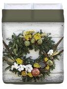 Williamsburg Wreath 09b Duvet Cover