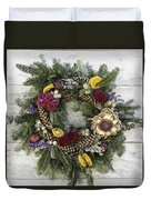 Williamsburg Wreath 10b Duvet Cover