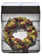 Williamsburg Wreath 29 Duvet Cover