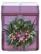 Williamsburg Wreath 92 Duvet Cover