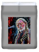 Willie Nelson Portrait Duvet Cover