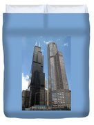 Willis Tower Aka Sears Tower And 311 South Wacker Drive Duvet Cover