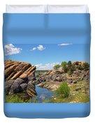 Willow Lake And Granite Dells Duvet Cover