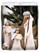 Willow Tree Nativity At Christmas Duvet Cover