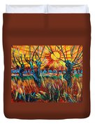 Willows At Sunset - Study Of Vincent Van Gogh Duvet Cover