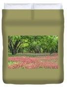 Willows,indian Paintbrush Make For A Colorful Palette. Duvet Cover