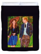 Wills And Kate The Royal Couple Duvet Cover by Carole Spandau