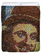 Willy Wonka Fizzy Lifting Bottle Cap Mosaic Duvet Cover