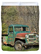 Willys Jeep Pickup Truck Duvet Cover