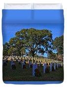 Wilmington National Cemetery Christmas Duvet Cover