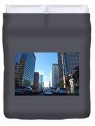 Wilshire Blvd  - West La Traffic Duvet Cover