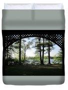 Wilson Pond Framed Duvet Cover