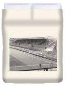 Wimbledon Fc - Plough Lane - South Stand 1 - Bw - 1969 Duvet Cover