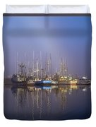 Winchester Bay Fishing Boats Duvet Cover