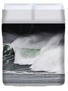 Wind And Waves In Oregon Duvet Cover
