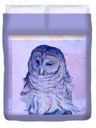 Wind Blown Owl  Duvet Cover
