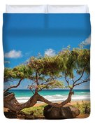 Wind Blown Tree Duvet Cover