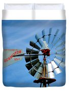 Wind Mill Pump In Usa 2 Duvet Cover