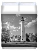 Wind Point Lighthouse And  Old Coast Guard Keepers Quarters  3 Duvet Cover