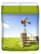 Wind Powered Farming Station Duvet Cover