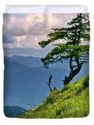 Wind Sculpted Conifer Duvet Cover