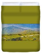 Wind Turbine Farm Palm Springs Ca Duvet Cover