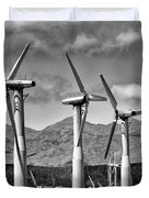 Wind Turbines Palm Springs Duvet Cover