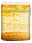 Windfarm Sunset Duvet Cover