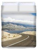 Winding Road In Croatia Duvet Cover