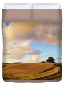Winding Road Leads To A Lone Tree Duvet Cover