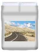 Winding Road On The Pag Island In Croatia Duvet Cover