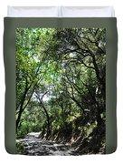 Winding Road Santa Ynez Mountains Duvet Cover